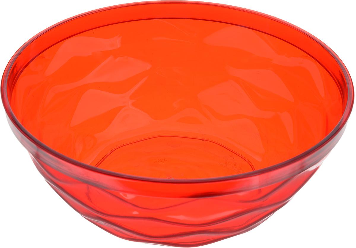 Салатник Giaretti Riva, цвет: красный, 4 лGR1834_красныйСалатник Giaretti Riva выполнен из высококачественного пластика и оформлен оригинальной рельефной поверхностью. Он прекрасно впишется в интерьер вашей кухни и станет достойным дополнением к кухонному инвентарю. Диаметр салатника (по верхнему краю): 27 см. Высота стенки: 10,3 см.