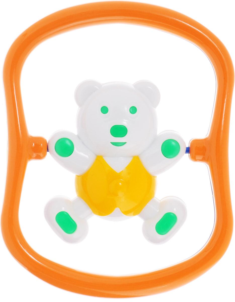 Аэлита Погремушка Мишка-баюн цвет желтый зеленый оранжевый
