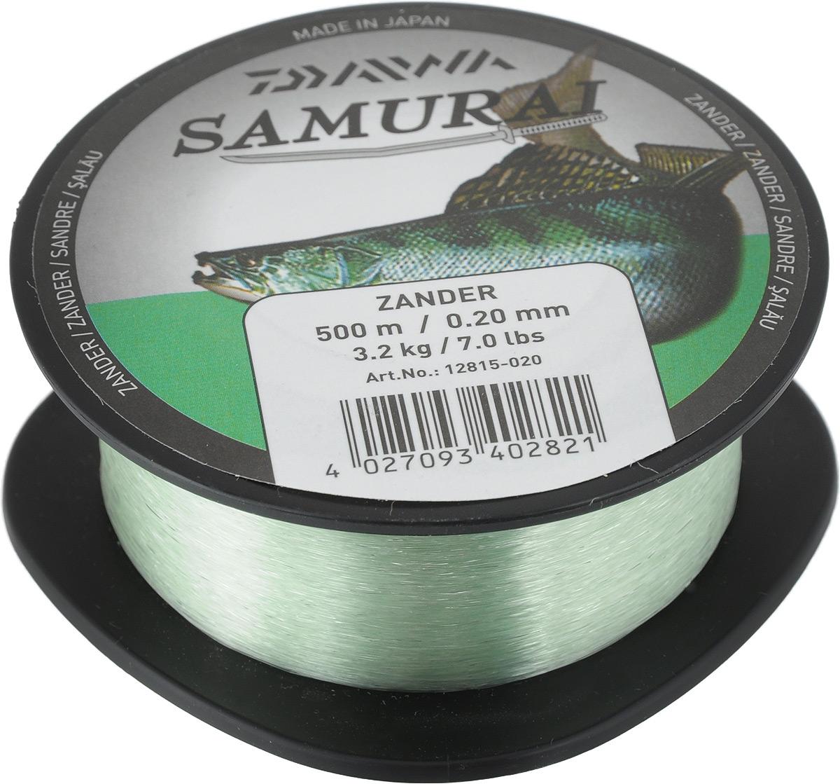 Леска Daiwa Samurai Zander, цвет: светло-зеленый, 500 м, 0,2 мм, 3,2 кг41589Популярная леска Daiwa Samurai Zander применяется для ловли разнообразной рыбы. Изготовлена из прочного нейлона согласно высоким стандартам качества. Леска сочетает в себе великолепное соотношение цены и качества.