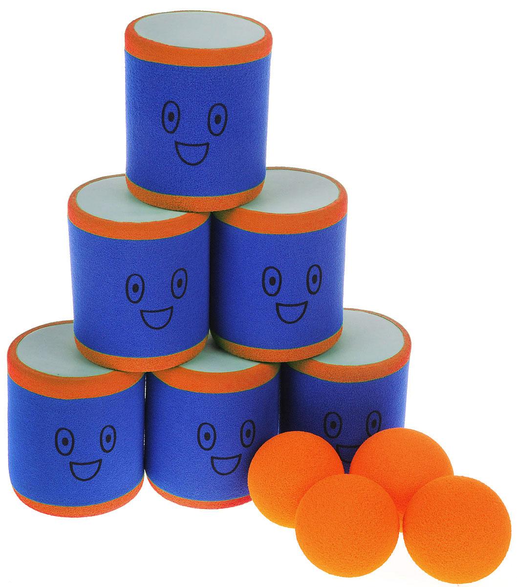 Safsof Игровой набор Городки цвет синий оранжевый AT-02N(B)_синий, оранжевый