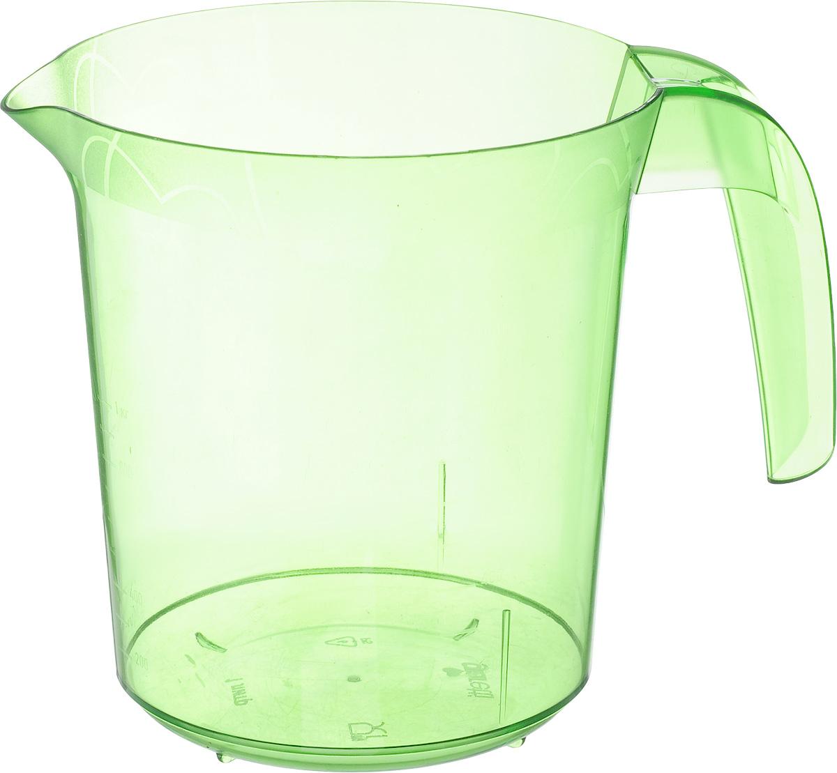 Стакан мерный Giaretti, цвет: зеленый, 1 лGR3056_зеленыйМерный прозрачный стакан Giaretti выполнен из высококачественного пластика. Стакан оснащен удобной ручкой и носиком, которые делают изделие еще более простым в использовании. Он позволяет мерить жидкости до 1 л. Удобная форма стакана позволяет как отмерить необходимое количество продукта, так и взбить/замесить его непосредственно в прямо в этой же емкости. Такой стаканчик пригодится каждой хозяйке на кухне, ведь зачастую приготовление некоторых блюд требует известной точности. Объем: 1 л. Диаметр (по верхнему краю): 13,5 см. Высота: 15 см.