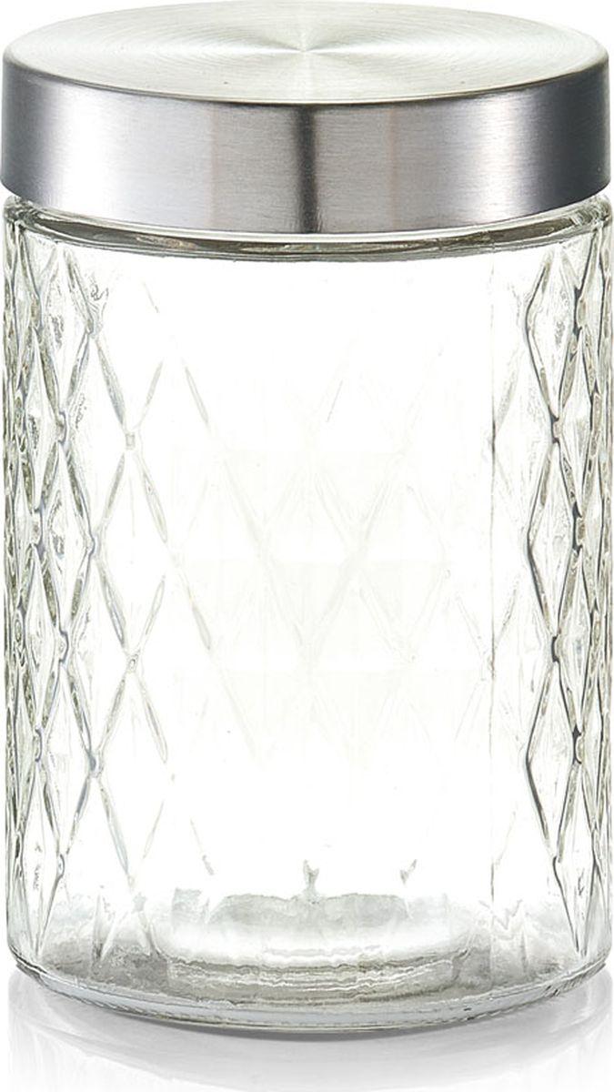 Банка для сыпучих продуктов Zeller, цвет: прозрачный, серый, 1200 мл19691