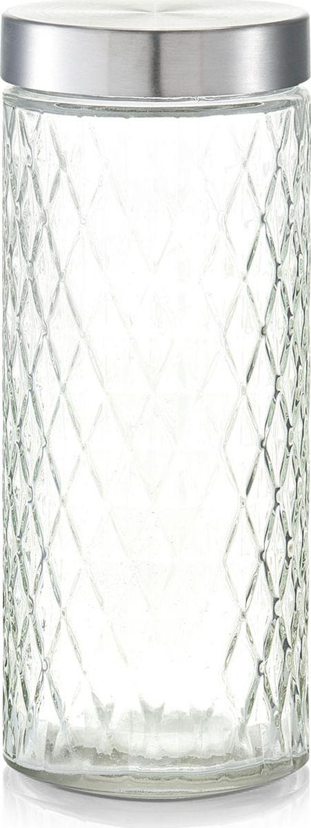 Банка для сыпучих продуктов Zeller, цвет: прозрачный, серый, 2000 мл19693