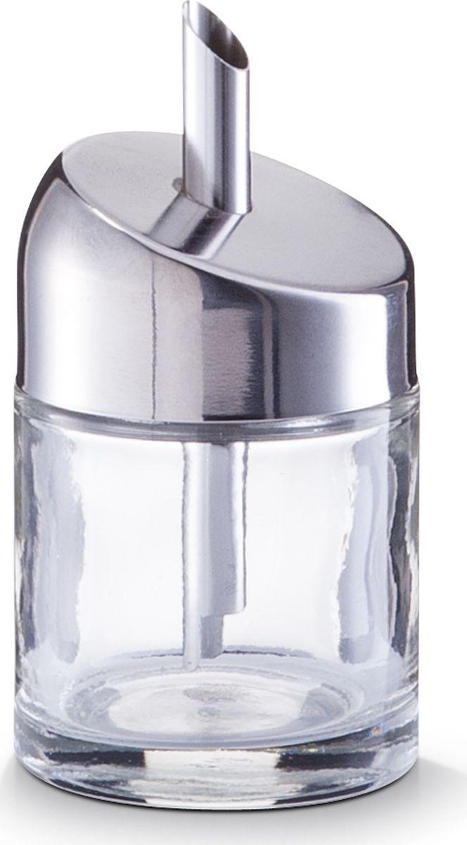 Сахарница Zeller, цвет: прозрачный, серый, диаметр 60 мм, высота 110 мм19924