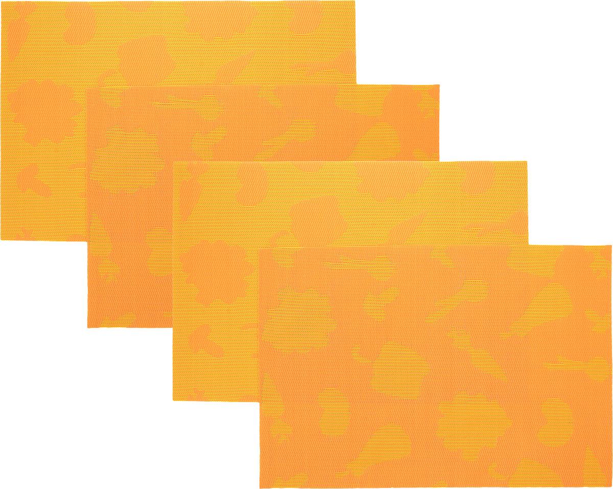 Набор сервировочных салфеток Oursson Овощи, цвет: оранжевый, 30 х 45 см, 4 штHS89596/ORНабор Oursson Овощи состоит из 4 салфеток, изготовленных на 70% из ПВХ и на 30% из полиэстера, они не впитывают влагу и легко моются. Набор салфеток предназначен для сервировки стола и украшения интерьера кухни, столовой или гостиной. Для ухода за салфетками можно использовать любые моющие средства. Необычный дизайн, практичность и высокая износостойкость делают салфетки удобным и полезным аксессуаром для дома. Салфетка станет прекрасным завершающим элементом в сервировке стола. С ней любой ужин будет как праздничный. Размер: 30 х 45 см.