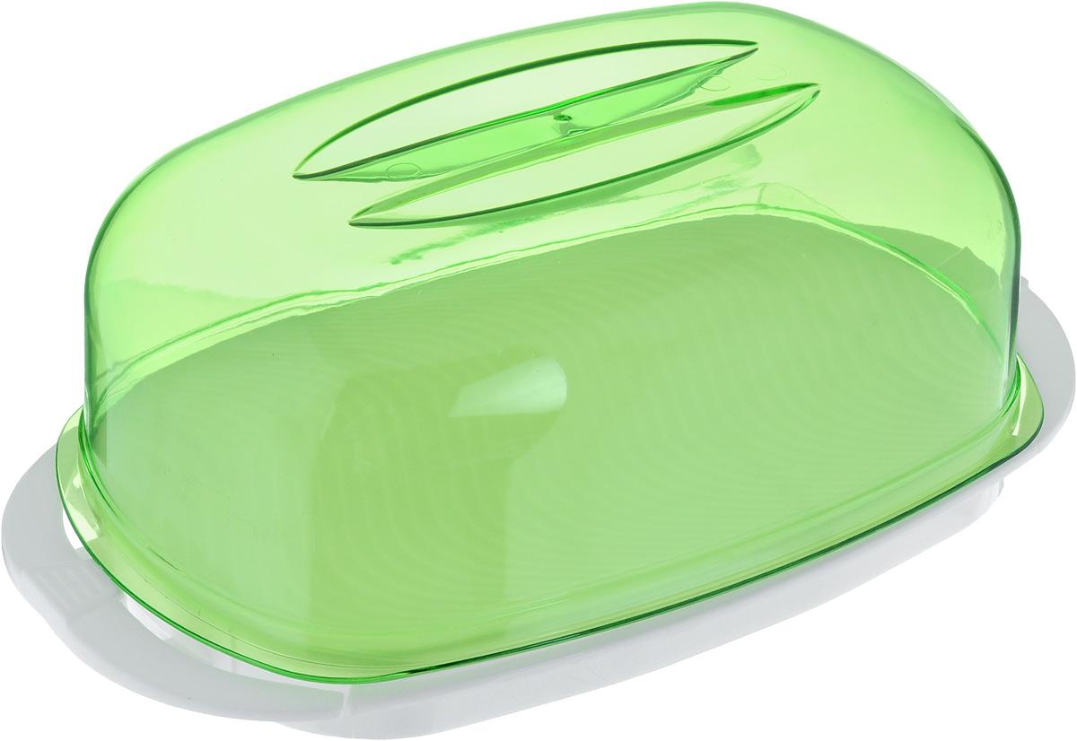 Контейнер Giaretti, цвет: зеленый, белый, 29,2 х 17 х 11 смGR1661Контейнер  Giaretti изготовлен из высококачественного пластика. Изделие идеально подходит для подачи готовых блюд на стол: ассорти сыров, пирожных, бутербродов для завтрака, а также для хранения продуктов в холодильнике. Контейнер имеет крышку, которая плотно закрывается на две защелки. Можно мыть в посудомоечной машине. Размер контейнера: 29,2 х 17 см. Высота контейнера: 11 см.