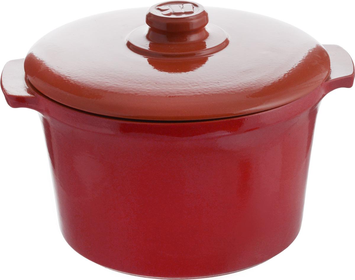Кастрюля керамическая Ломоносовская керамика Огонек с крышкой, цвет: красный, 4 л1КТкр-4Кастрюля Ломоносовская керамика Огонек выполнена из высококачественной термостойкой керамики. Покрытие абсолютно безопасно для здоровья, не содержит вредных веществ. Кастрюля оснащена удобными боковыми ручками и керамической крышкой. Она плотно прилегает к краям посуды, сохраняя аромат блюд. Подходит кастрюля для использования на всех типах плит. Для использования на индукционных плитах требуется специальный диск. Благодаря термостойкости материала, кастрюлю можно использовать в духовке и СВЧ. Разрешено мыть в посудомоечной машине. Диаметр: 22,5 см. Высота стенки: 14,5 см. Толщина стенки: 8 мм. Диаметр дна: 18,5 см. Ширина кастрюли (с учетом ручек): 28 см. Диаметр крышки: 24 см.