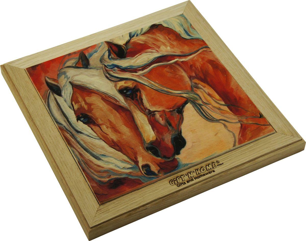 Подставка под горячее Giftnhome Фантазия о лошадях, 29 х 20 смWTR-FantasyПодставка из ценных пород древесины, дуб/ бук , с декоративной вставкой из качественной фанеры, с нанесением цветных фотопринтов. Данный товар несет двойную потребительскую функцию, обеспечивая декоративное и хозяйственное назначение. Он может быть использован для украшения помещений в качестве настенного панно и как подставка под горячую посуду.