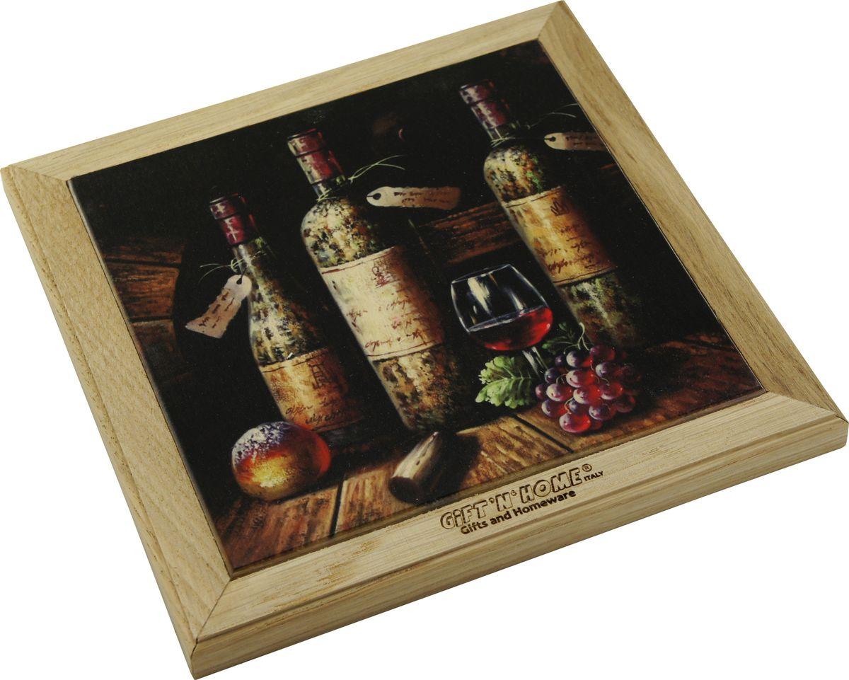 Подставка под горячее Giftnhome Винтажные вина, 49 х 20 смWTR-WineПодставка из ценных пород древесины, дуб/ бук , с декоративной вставкой из качественной фанеры, с нанесением цветных фотопринтов. Данный товар несет двойную потребительскую функцию, обеспечивая декоративное и хозяйственное назначение. Он может быть использован для украшения помещений в качестве настенного панно и как подставка под горячую посуду.