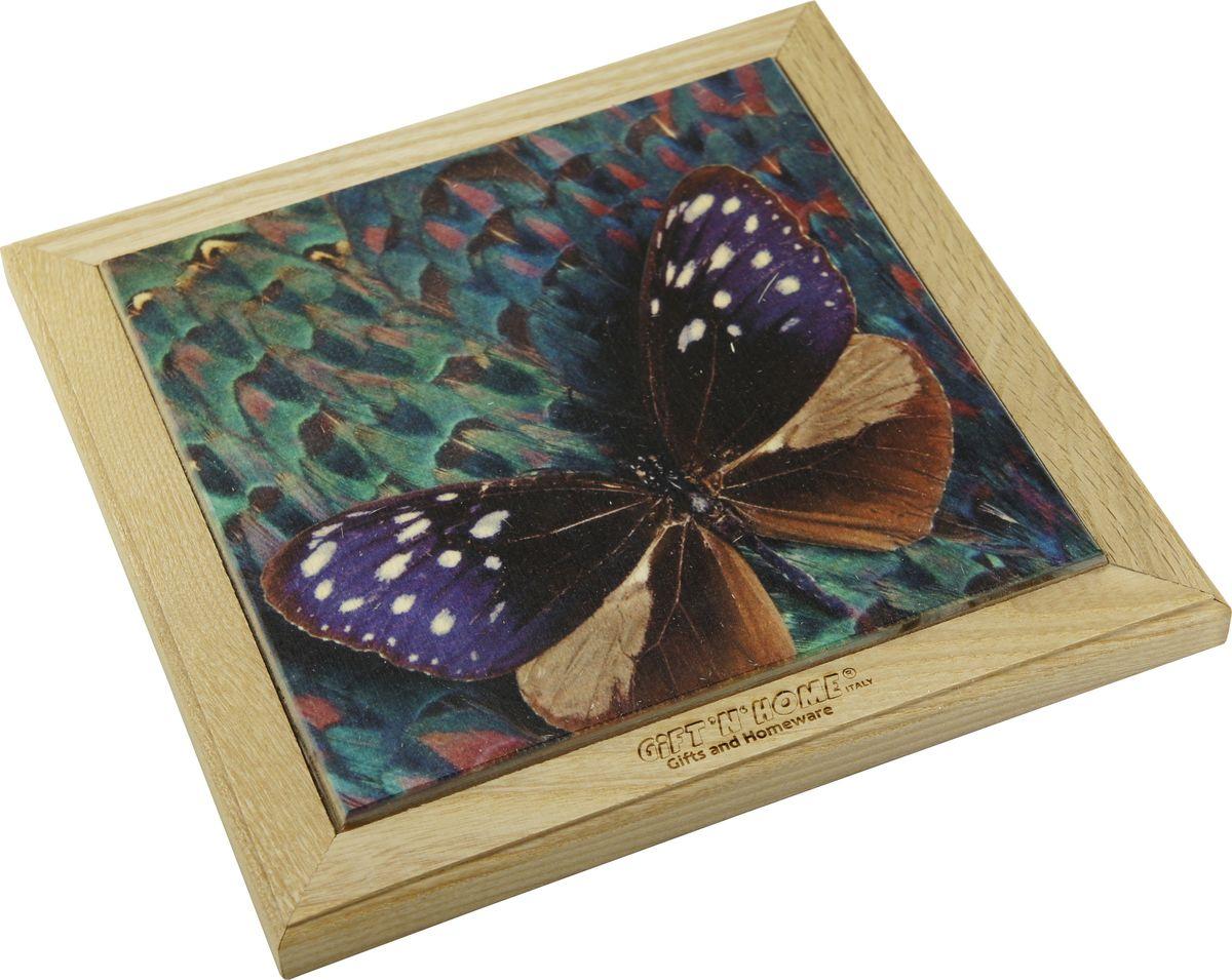 Подставка под горячее Giftnhome Волшебная бабочка, 41 х 20 смWTR-Волш.БабочкаПодставка из ценных пород древесины, дуб/ бук , с декоративной вставкой из качественной фанеры, с нанесением цветных фотопринтов. Данный товар несет двойную потребительскую функцию, обеспечивая декоративное и хозяйственное назначение. Он может быть использован для украшения помещений в качестве настенного панно и как подставка под горячую посуду.
