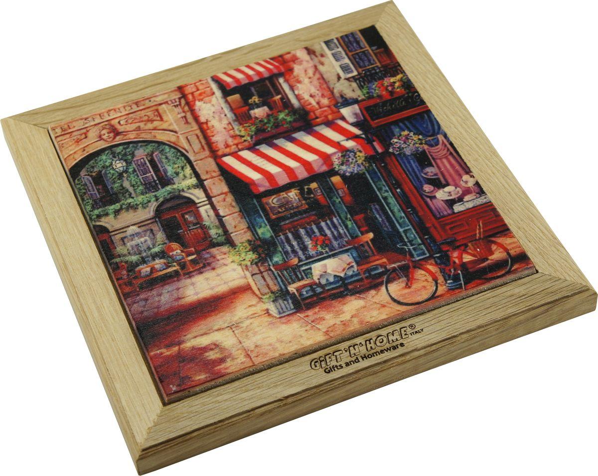 Подставка под горячее Giftnhome Парижский дворик, 48 х 20 смWTR-ДворикПодставка из ценных пород древесины, дуб/ бук , с декоративной вставкой из качественной фанеры, с нанесением цветных фотопринтов. Данный товар несет двойную потребительскую функцию, обеспечивая декоративное и хозяйственное назначение. Он может быть использован для украшения помещений в качестве настенного панно и как подставка под горячую посуду.