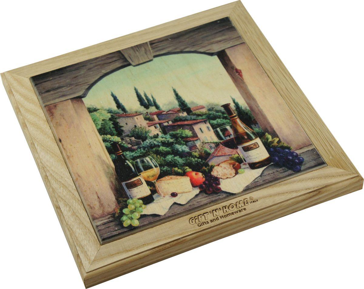 Подставка под горячее Giftnhome Завтрак в Тоскане, 42 х 20 смWTR-Тоскана1Подставка из ценных пород древесины, дуб/ бук , с декоративной вставкой из качественной фанеры, с нанесением цветных фотопринтов. Данный товар несет двойную потребительскую функцию, обеспечивая декоративное и хозяйственное назначение. Он может быть использован для украшения помещений в качестве настенного панно и как подставка под горячую посуду.