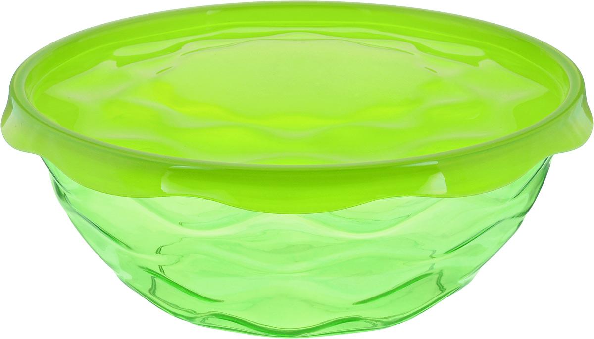Салатник Giaretti Riva, с крышкой, цвет: салатовый, 4 лGR1836_зеленыйПрочный и удобный салатник Luminarc Riva, изготовленный из полистирола и полипропилена, прекрасно подходит как для приготовления, так и для подачи различных блюд на стол. Салатник оснащен удобной плотной крышкой, которая сохранит свежесть приготовленных блюд. Изделие оформлено оригинальной рельефной поверхностью. Салатник прекрасно впишется в интерьер и станет достойным дополнением на вашей кухне. Диаметр салатника (по верхнему краю без учета крышки): 27 см. Высота салатника (без учета крышки): 10,5 см.