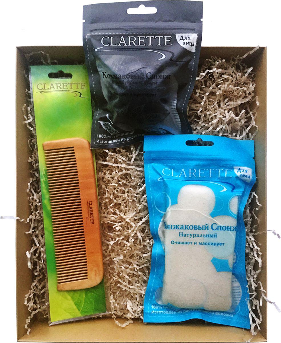 Clarette Beauty Box №5 ЭКО, подарочный наборCBB 654Подарочный набор включает три предмета д:CKS 428 CLARETTE Конжаковый спонж с бамбуковым углем для лица;CKS 429 CLARETTE Конжаковый спонж натуральный для тела,белый;CWC 482 Расческа для волос деревянная прямая. CKS 428 CLARETTE Конжаковый спонж с бамбуковым углем для лица. Подходит для жирной и проблемной кожи . Очищает и массирует 100% натуральный. Изготовлен из растительного волокна. Растение Конжак выращивается в горах Японии и Китая и имеет более 2000-летнюю историю применения в оздоровительном питании и косметологии. Конжаковыеспонжи из готавливаются из 100% чистого натурального конжакового волокна,богатого своими полезными компонентами. Один из них, глюкоманан, способствует мягкому удалению отмершего рогового слоя кожи, бережно и тщательно очищает поры, не повреждая поверхностть кожи, делает ее сияющей и ослепительно чистой. Благодаря глюкоманану, конжаковое волокно имеет удивительную способность удерживать воду делая спонж невероятно мягким и нежным. Благодаря необычайно мягкой...