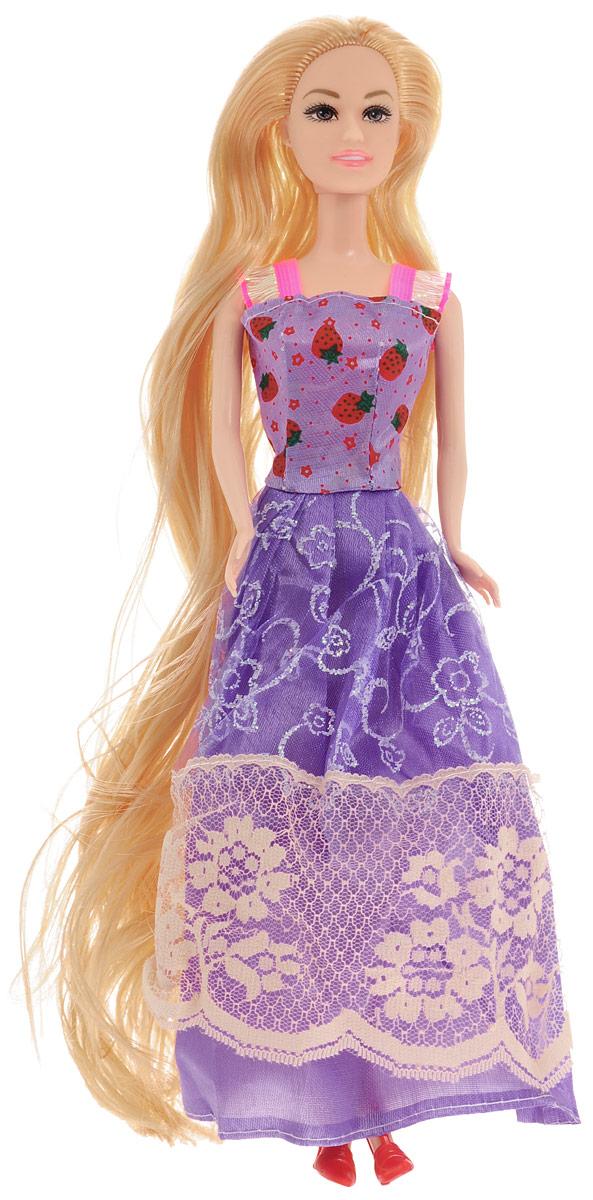 ABtoys Кукла Модница цвет платья фиолетовый