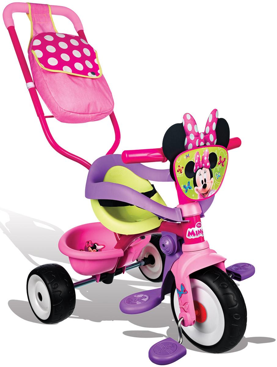 Smoby Велосипед-трансформер трехколесный с сумкой Minnie 444248