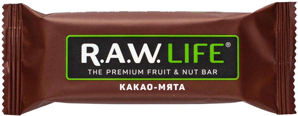 RAWLife Какао-мята батончик орехово-фруктовый, 47 г00009Энергетический микс от RAWLife из натуральных какао и мяты не повышает, а нормализует артериальное давление, оптимизирует кровоток мозга и улучшает краткосрочную память. А финики, фундук и кешью, входящие в его состав, делают вкус батончика абсолютно восхитительным! Уважаемые клиенты! Обращаем ваше внимание, что полный перечень состава продукта представлен на дополнительном изображении.