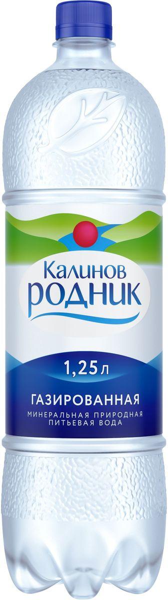Калинов Родник минеральная питьевая газированная вода, 6 шт по 1,25 л