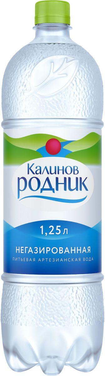 Калинов Родник минеральная питьевая негазированная вода, 6 шт по 1,25 л
