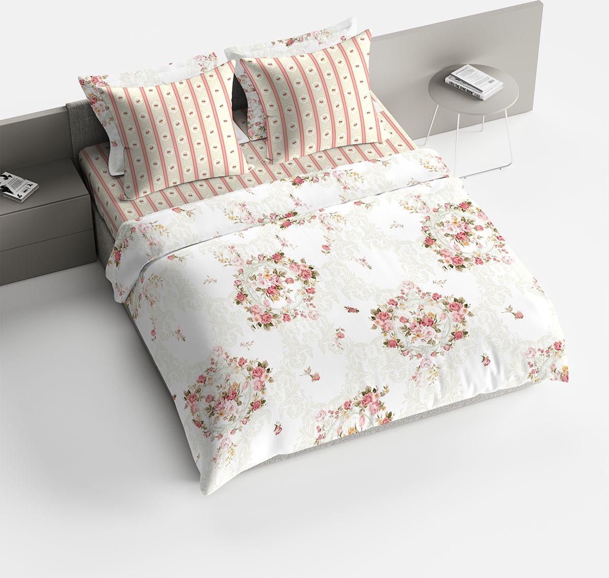 Комплект белья Браво Пробуждение, евро, наволочки 70x70, цвет: персиковый. 1842-146106