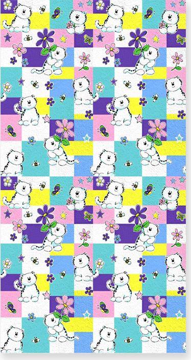 Полотенце махровое НВ Китти, цвет: синий, 60 х 120 см. м0501_0167151