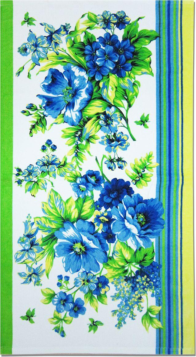 Полотенце махровое НВ Адриана, цвет: синий, 70 х 140 см. м1007_0170724