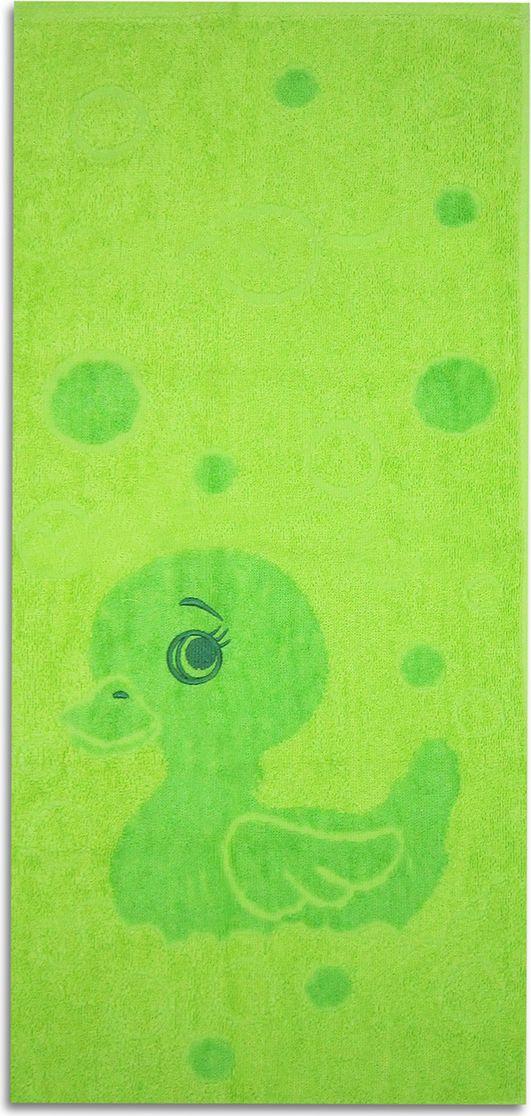 Полотенце махровое НВ Уточка, цвет: зеленый, 33 х 70 см. м1006_0371121