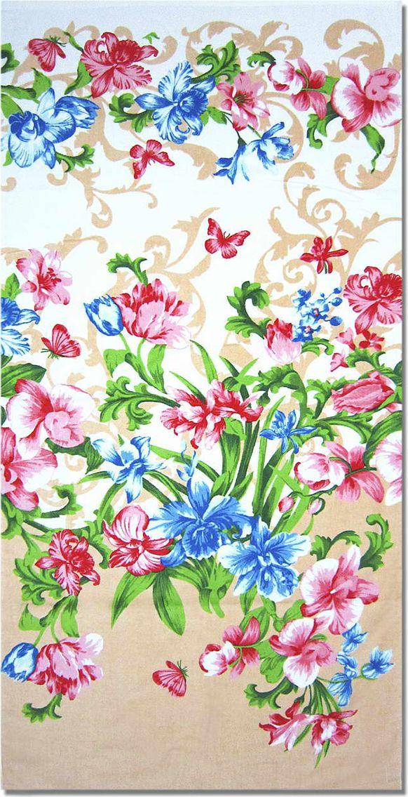 Полотенце махровое НВ Елена, цвет: персиковый, 70 х 140 см. м1030_1271356