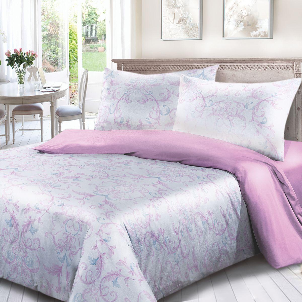 Комплект белья Сорренто Паллацо, 2-х спальное, наволочки 70x70, цвет: сиреневый. 4018-180269