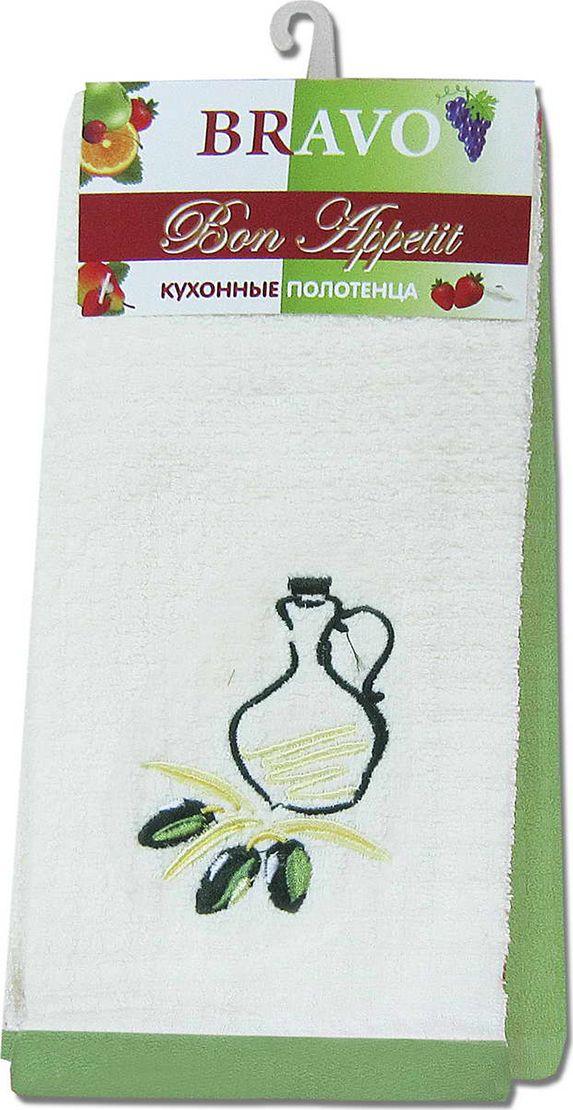 Набор махровых полотенец НВ Бон Аппетит, цвет: оливковый, 40 х 60 см, 2 шт. м0633_1880502