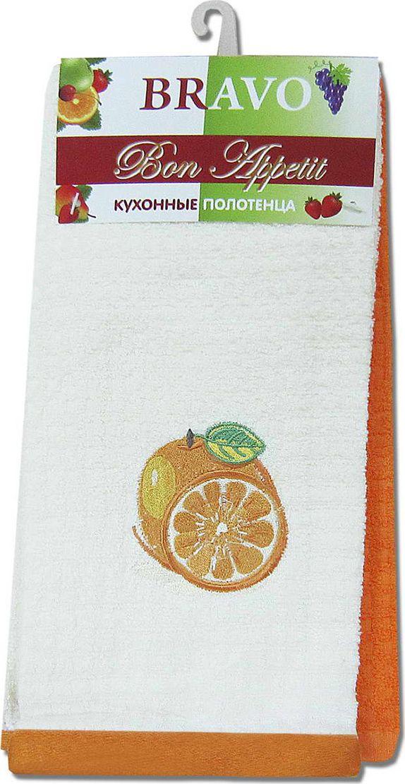 Набор махровых полотенец НВ Бон Аппетит, цвет: оранжевый, 40 х 60 см, 2 шт. м0635_1380504
