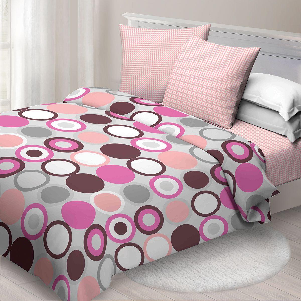 Комплект белья Спал Спалыч Ронди, 1,5 спальное, наволочки 70x70, цвет: бордовый. 4083-182442