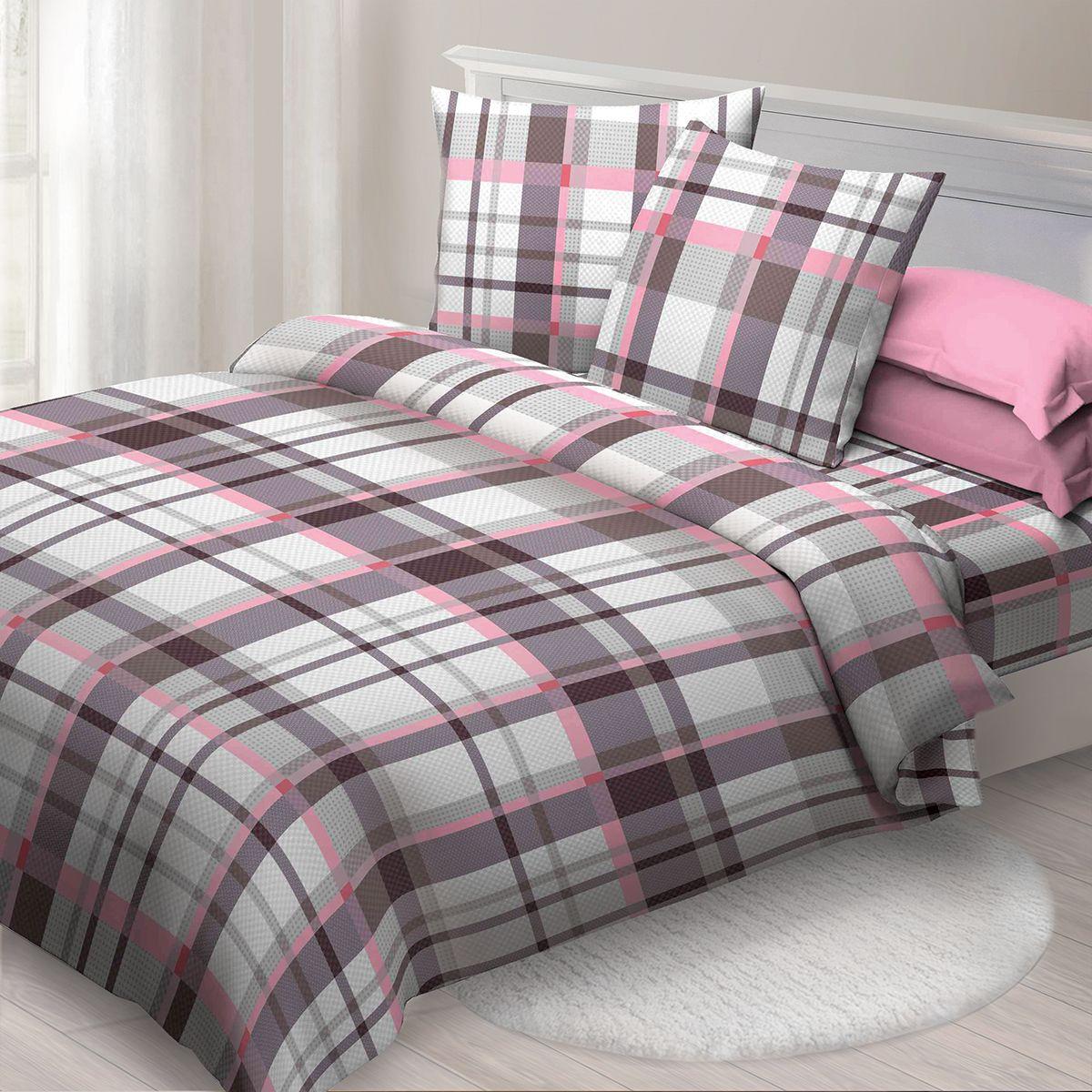 Комплект белья Спал Спалыч Факт, 1,5 спальное, наволочки 70x70, цвет: бордовый. 3521-182444