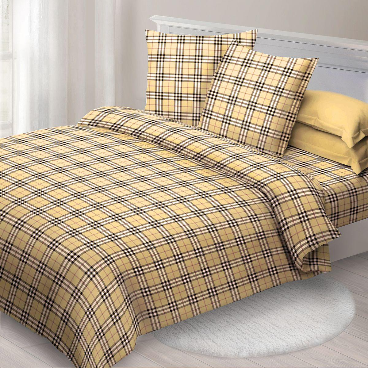 Комплект белья Спал Спалыч Кенсингтон, 1,5 спальное, наволочки 70x70, цвет: бежевый. 1253-182445