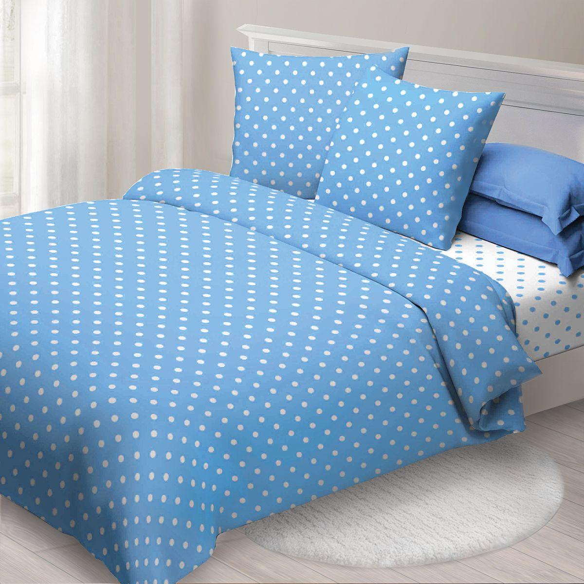 Комплект белья Спал Спалыч Бетти , 2-х спальное, наволочки 70x70, цвет: голубой. 4080-282451