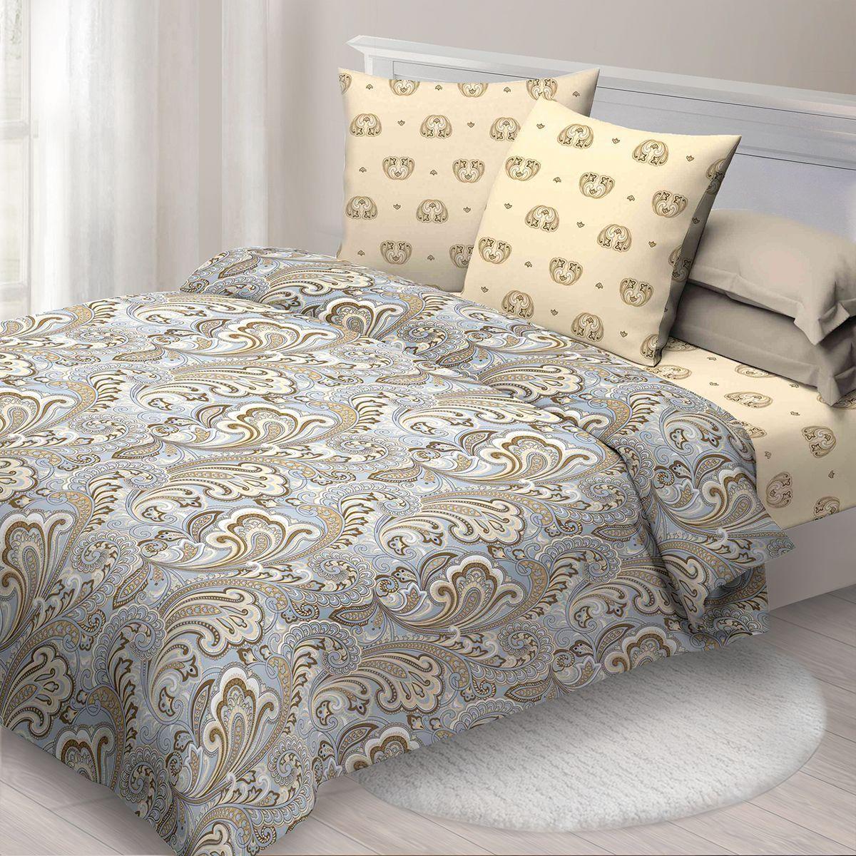 Комплект белья Спал Спалыч Тамилла, евро, наволочки 70x70, цвет: голубой. 3907-182468