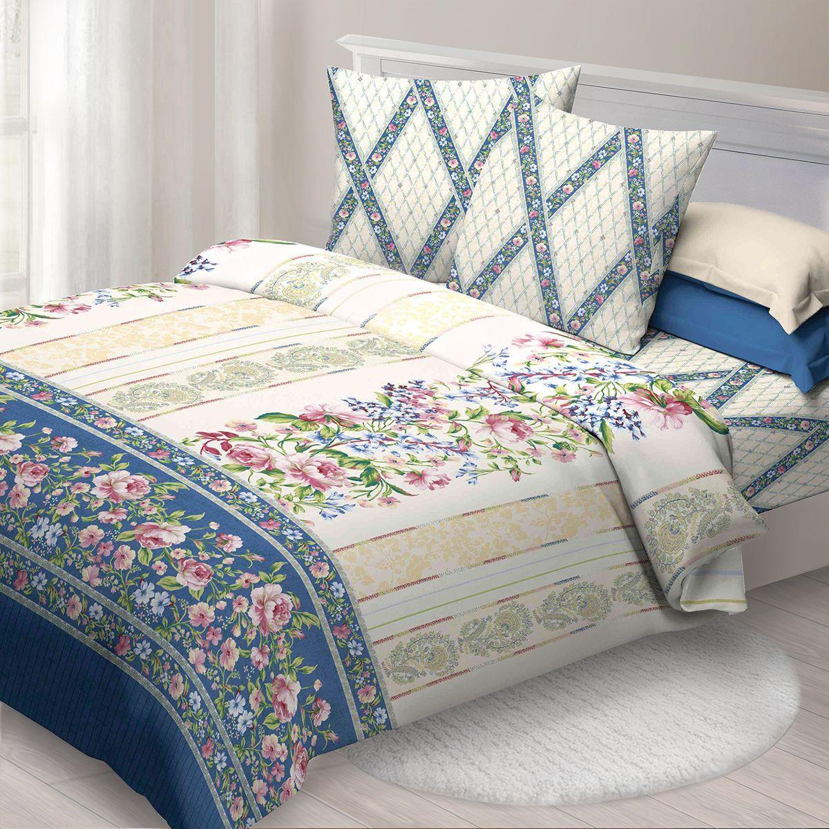 Комплект белья Спал Спалыч Соблазн, евро, наволочки 70x70, цвет: синий. 3523-182470