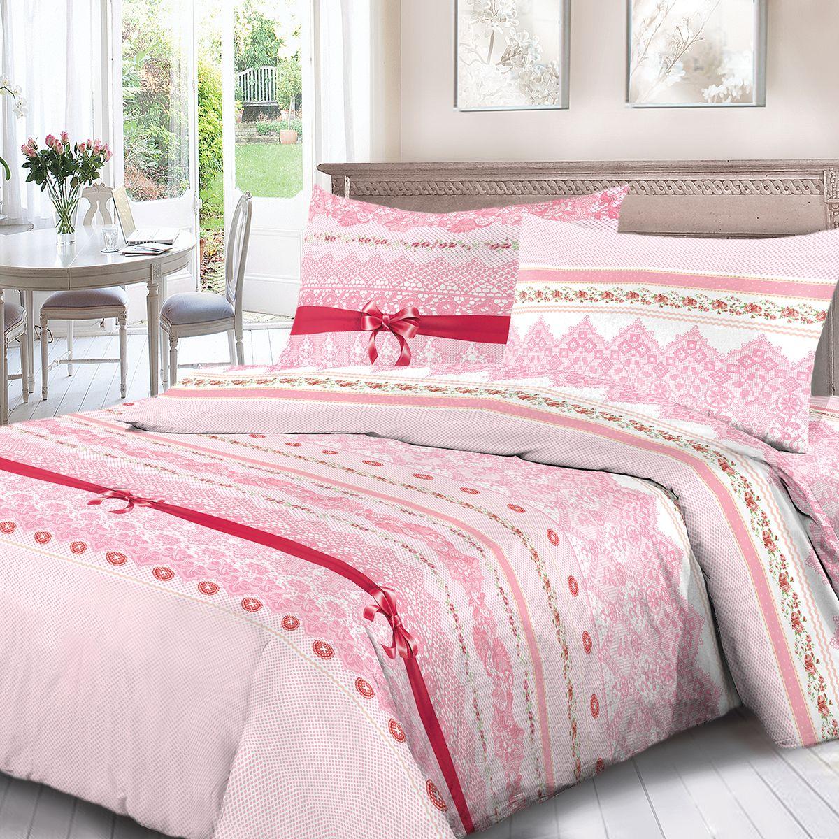 Комплект белья Для Снов Бал, евро, наволочки 70x70, цвет: розовый. 4062-183527