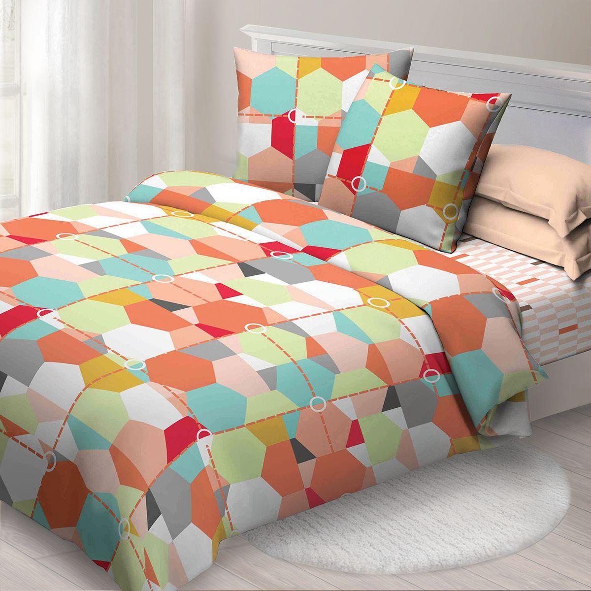 Комплект белья Спал Спалыч Карамель, 1,5 спальное, наволочки 70x70, цвет: бордовый. 4084-184184