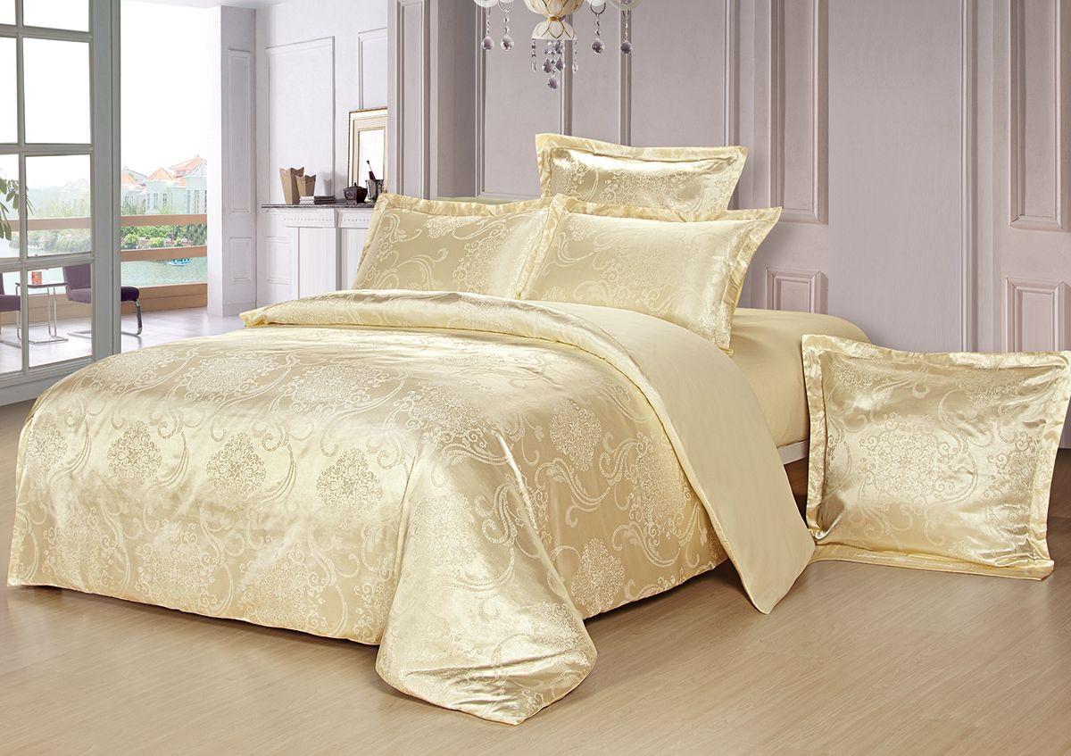 Комплект белья Versailles Монро, 2-спальное, наволочки 50x70, цвет: желтый85461Коллекция Versailles относится к продукции класса люкс. Постельное белье из сатина, сотканного из хлопка с добавлением вискозных волокон дарит приятные тактильные ощущения на протяжении всего сна, а уникальные жаккардовые узоры придают танки мягкий блеск и обеспечивают материалу особую прочность. Постельное белье «Versailles» - отличный подарок на любое торжество и идеальный выбор для взыскательных покупателей . Состав: Хлопок 70%, вискоза 30%