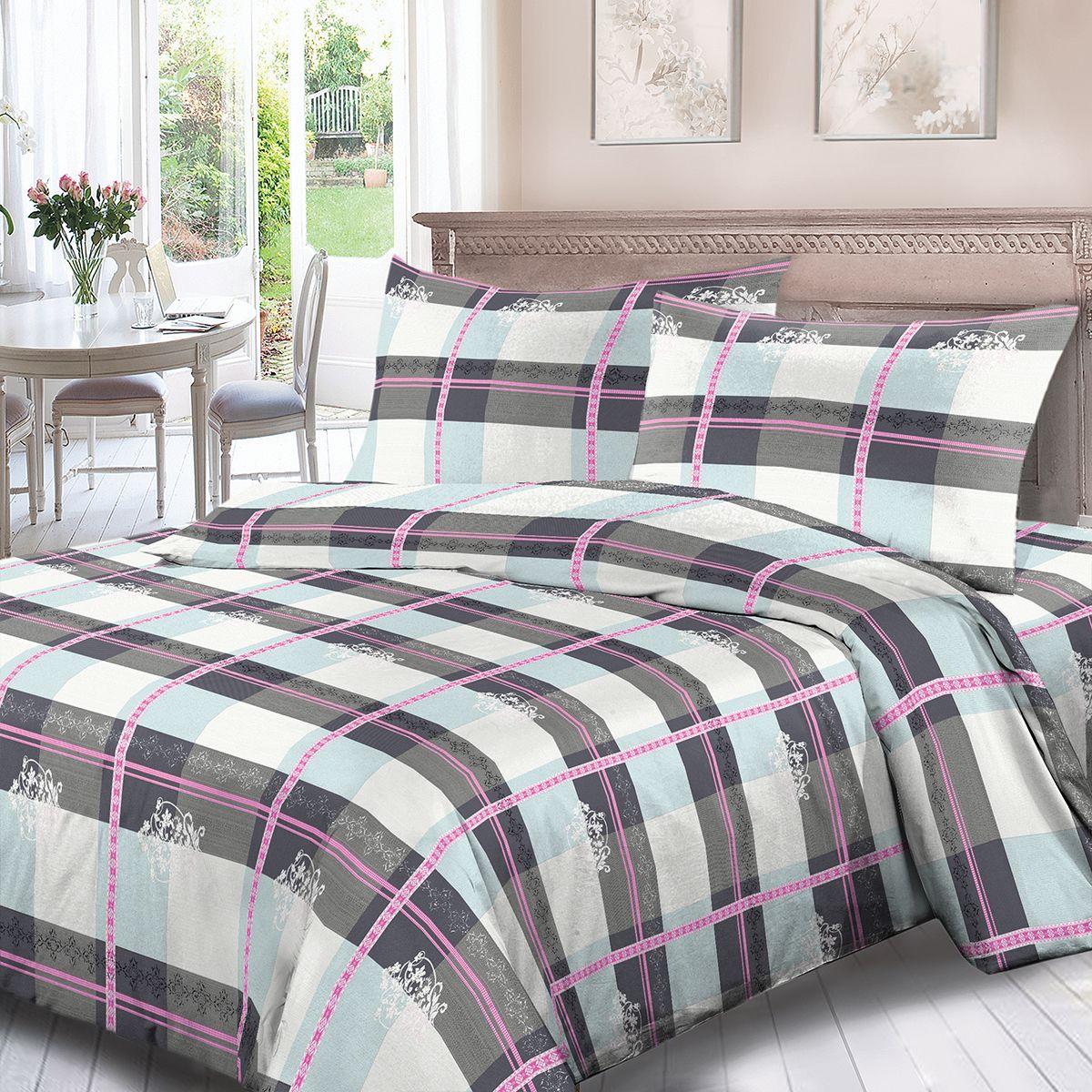 Комплект белья Для Снов Денди, 1,5 спальное, наволочки 70x70, цвет: серый. 1852-186482