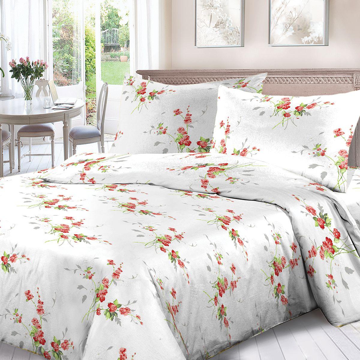 Комплект белья Для Снов Амброзия, 1,5 спальное, наволочки 70x70, цвет: белый. 1536-287327