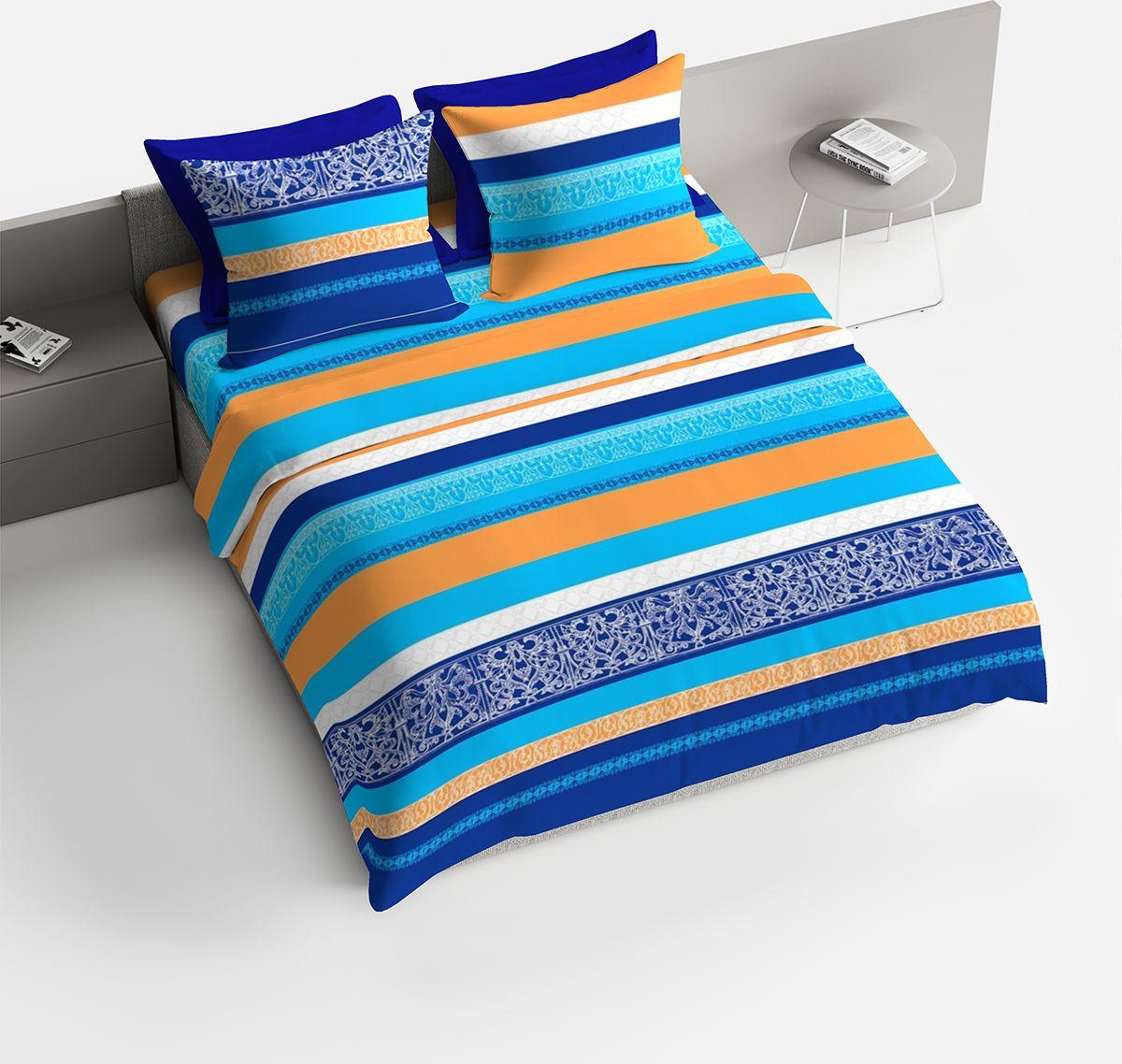 Комплект белья Браво Гретхен, семейный, наволочки 70x70, цвет: синий. 4060-187747