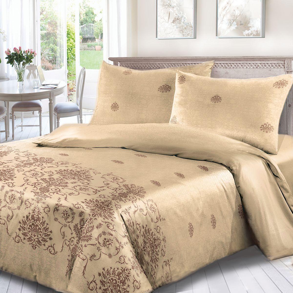 Комплект белья Сорренто Шамбала, 1,5 спальное, наволочки 70x70, цвет: коричневый. 4021-187891