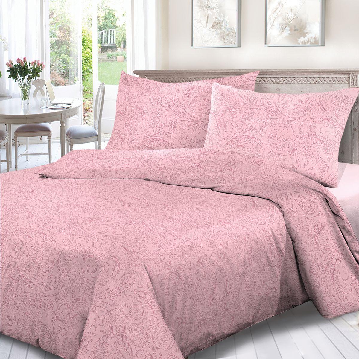 Комплект белья Сорренто Ариэль, 1,5 спальное, наволочки 70x70, цвет: розовый. 4114-189098