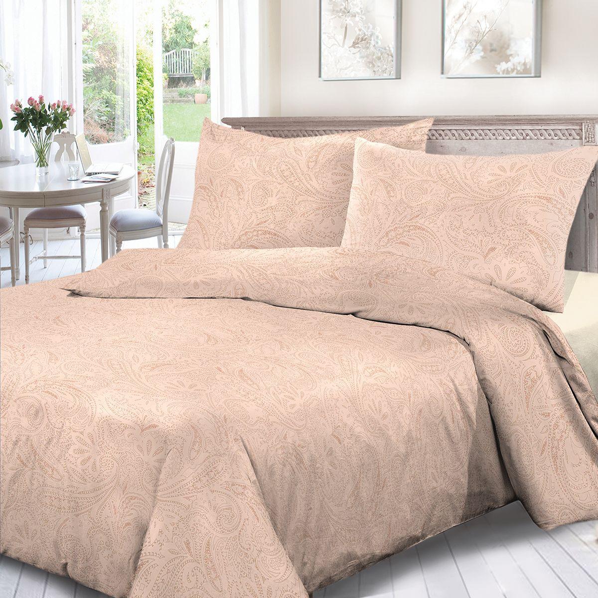 Комплект белья Сорренто Ариэль, 1,5 спальное, наволочки 70x70, цвет: бежевый. 4114-289102