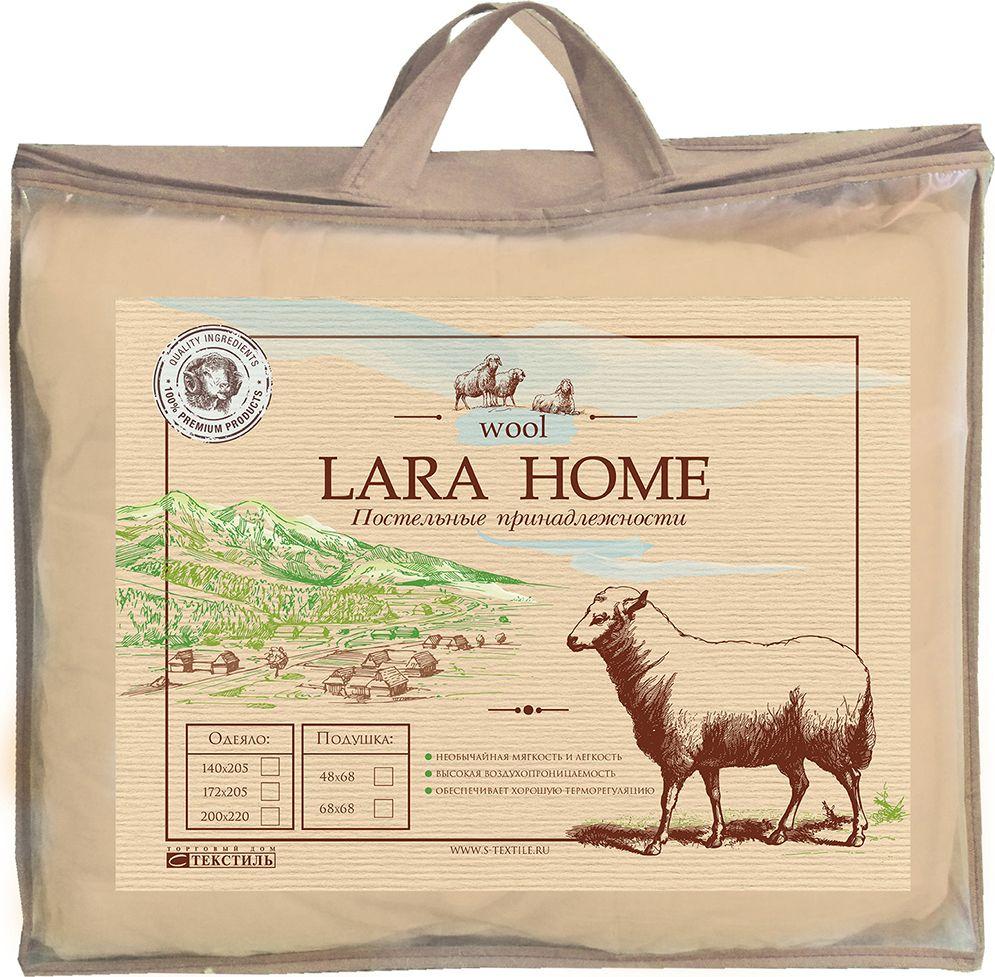 Одеяло Lara Home Wool, всесезонное, цвет: белый, 172 х 205 см89531Наполнитель: пласт овечья шерсть +силиконизированное волокно