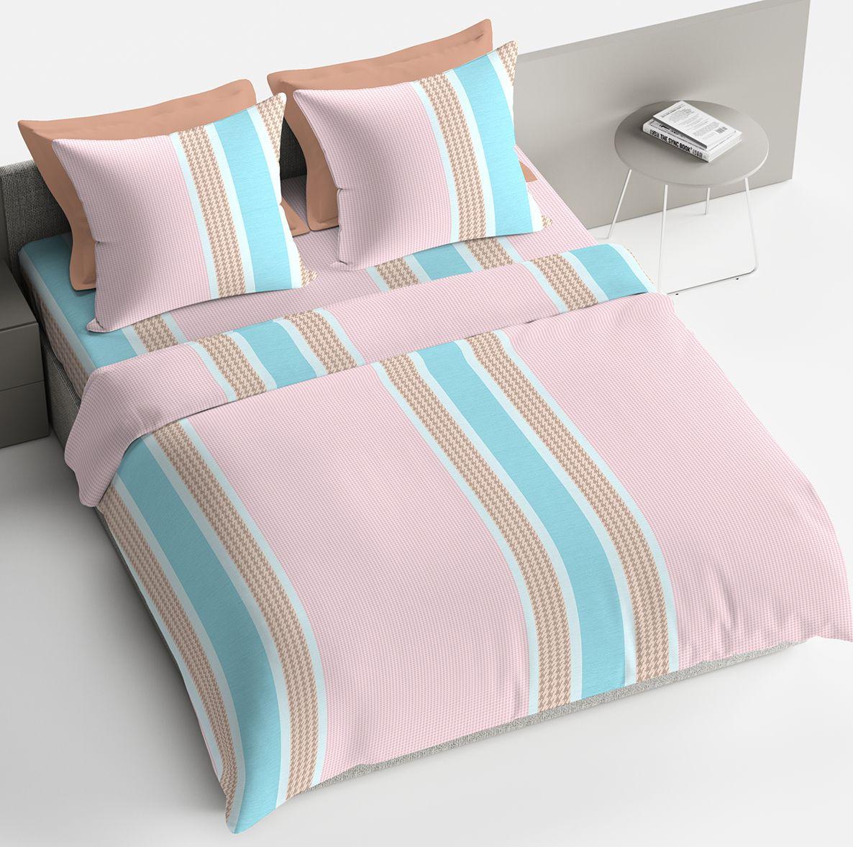 Комплект белья Браво Адриано, 2-х спальное, наволочки 70x70, цвет: розовый. 4094-189756