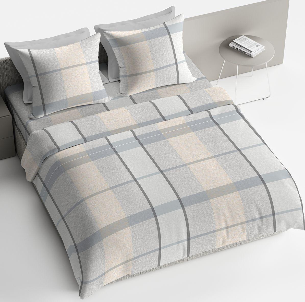 Комплект белья Браво Ноа, 1,5 спальное, наволочки 70x70, цвет: серый. 4097-189768