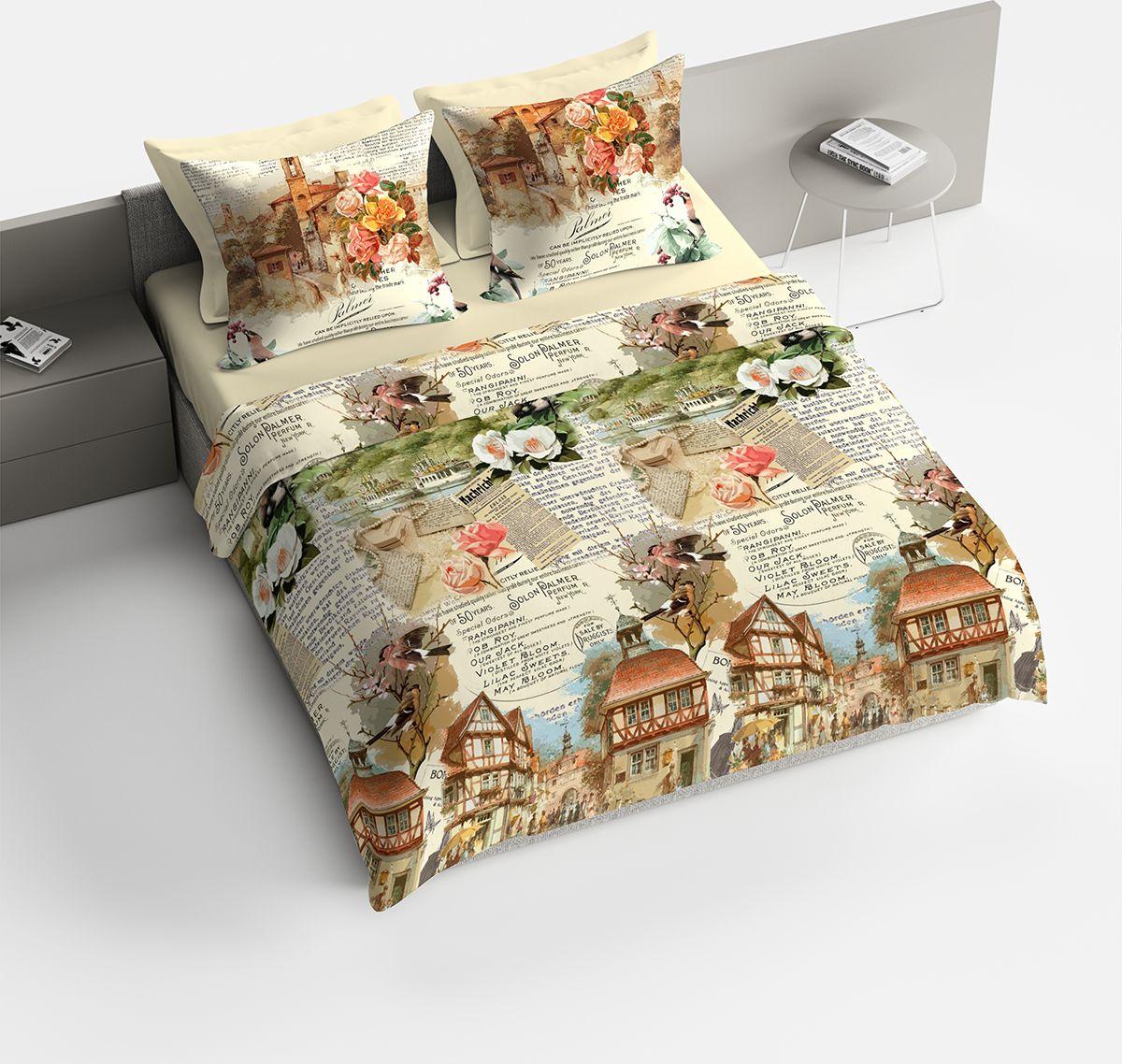 Комплект белья Браво Мюнхен, 2-спальное, наволочки 70x70, цвет: бежевый91928Комплекты постельного белья из ткани LUX COTTON (высококачественный поплин), сотканной из длинноволокнистого египетского хлопка, созданы специально для людей с оригинальным вкусом, предпочитающим современные решения в интерьере. Обновленная стильная упаковка делает этот комплект отличным подарком. • Равноплотная ткань из 100% хлопка; • Обработана по технологии мерсеризации и санфоризации; • Мягкая и нежная на ощупь; • Устойчива к трению; • Обладает высокими показателями гигроскопичности (впитывает влагу); • Выдерживает частые стирки, сохраняя первоначальные цвет, форму и размеры; • Безопасные красители ведущего немецкого производителя BEZEMA